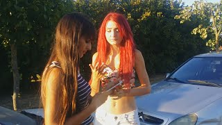 Axelle and Doriane Vs Boyfriend's car