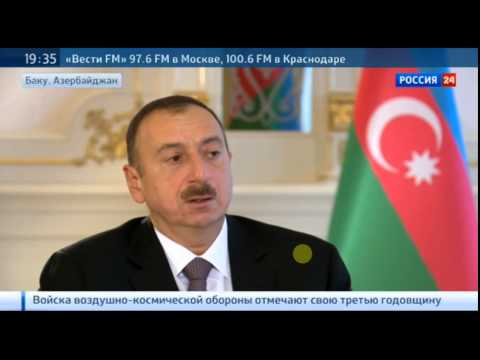 interview with president of Azerbaijan to channel: Russia-24