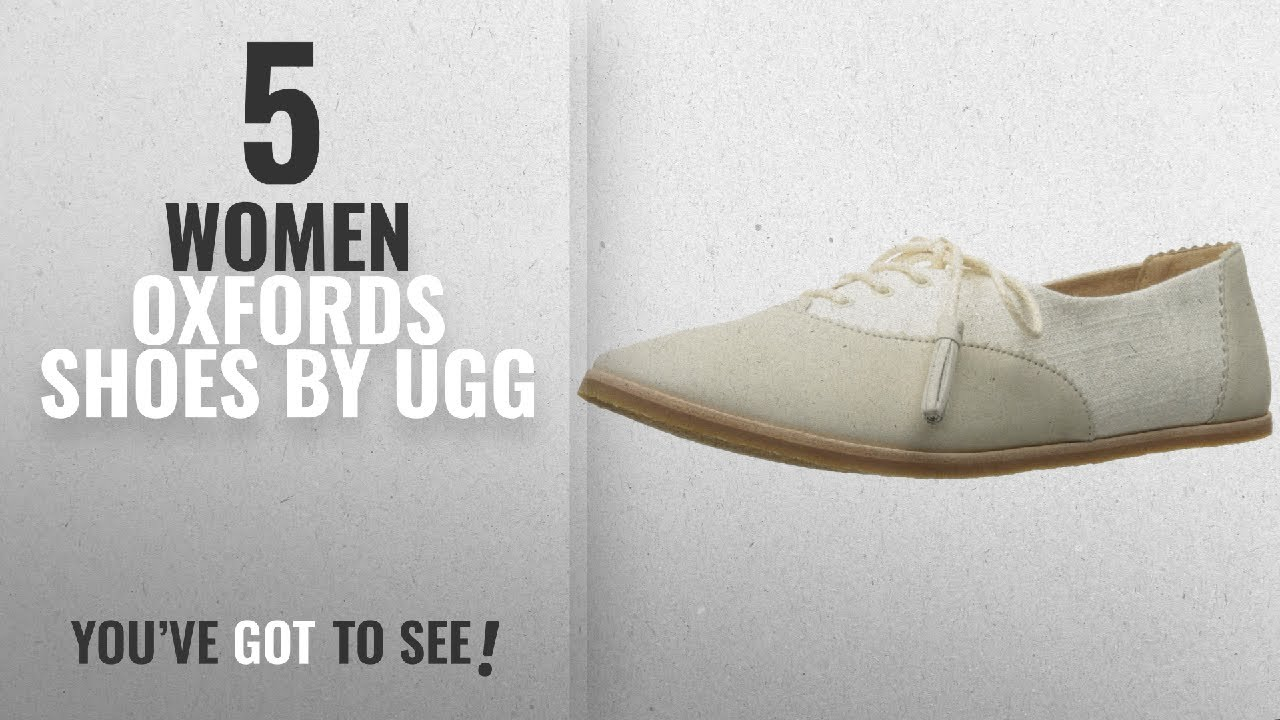 09ce765b90f Top 5 Ugg Women Oxfords Shoes [2018]: UGG Women's Nolita Oxford, Water  Lily, 7 US/7 B US