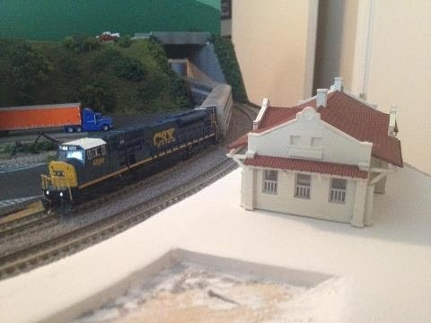 N Scale How To: Building the Station Scene Pt. 1