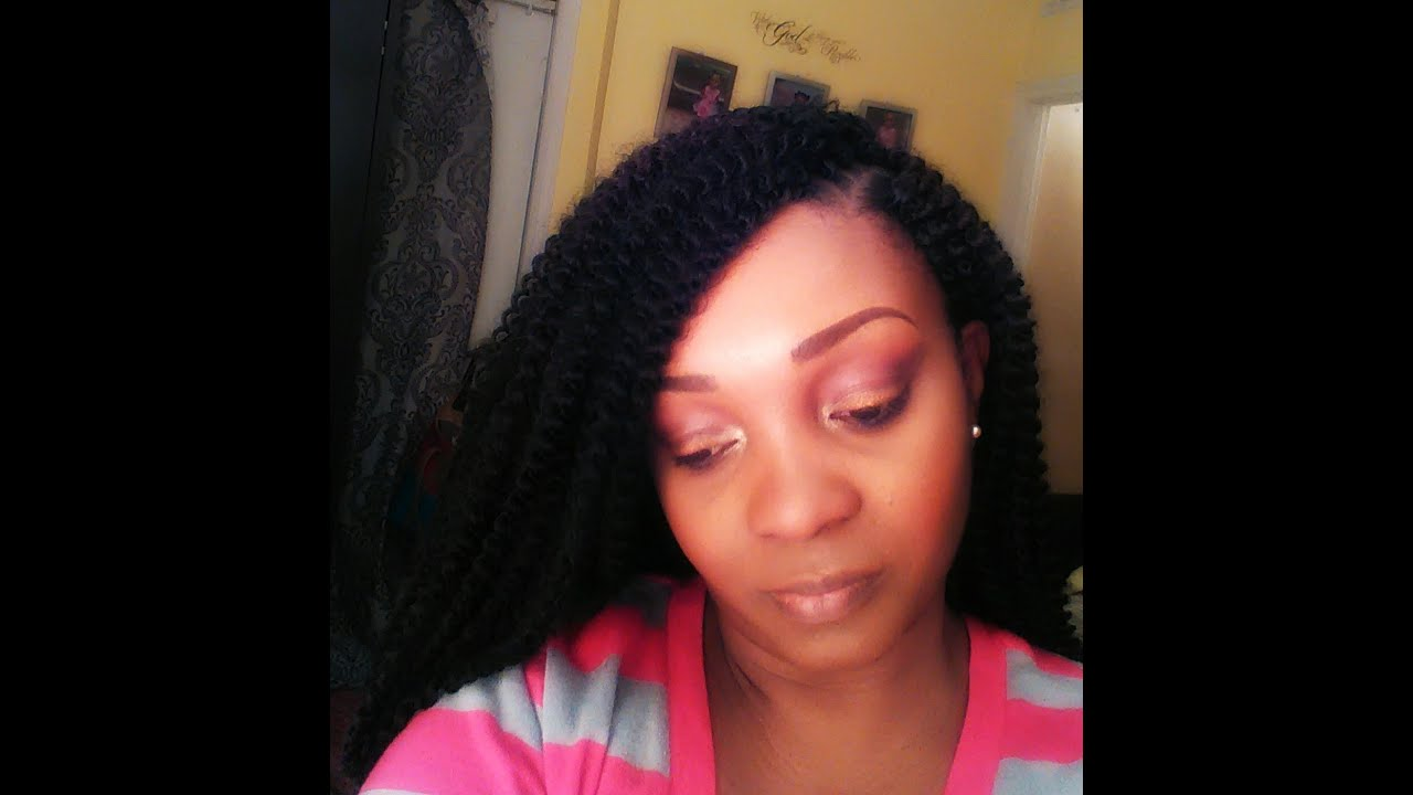 Model Model CorkScrew Crochet Braids Review - YouTube