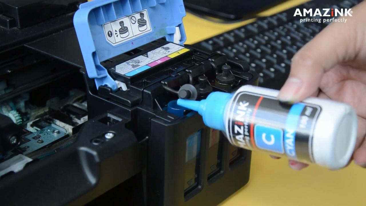 Cara Refill Tinta Printer Canon PIXMA G1000 G2000 G3000 G4000   AMAZiNK - YouTube