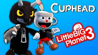 LittleBigPlanet 3 - CUPHEAD Pack Costumes and Items (Fan Made) - Playstation 4 Gameplay