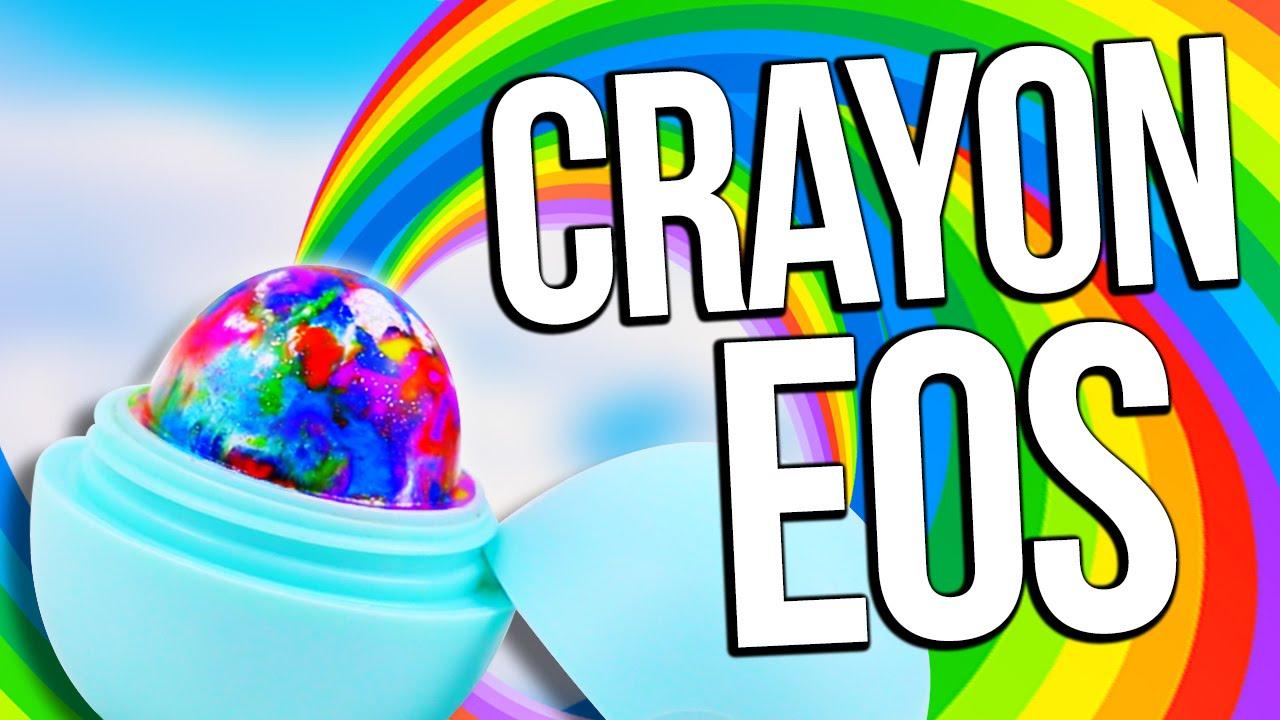diy rainbow crayon eos draw with your lip balm youtube
