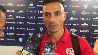 Álvaro García tras el Huesca 0-1 Rayo Vallecano