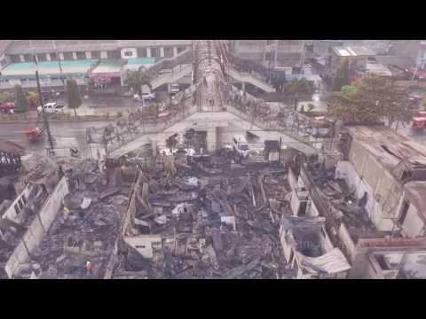 Butuan Fire Aftermath 2017 - Aerial Footage
