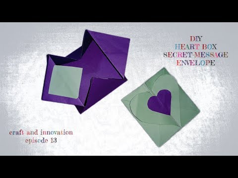 How to Make Heart Box Paper Envelope || DIY Secret Message Letter || Craft and Innovation ep 13
