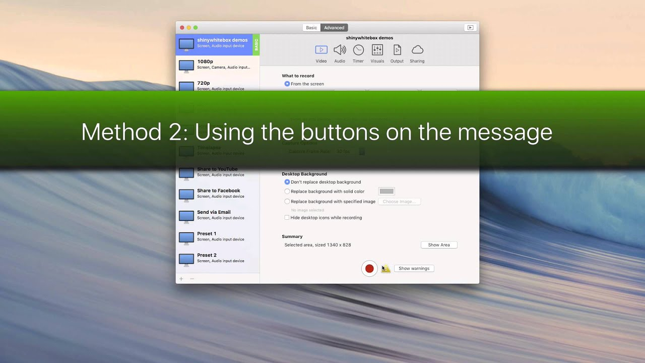iShowU Instant Advanced Features   Great software for Mac