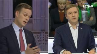 LRT forumas | LR Seimo rinkimų debatai | G. Landsbergis ir R. Karbauskis