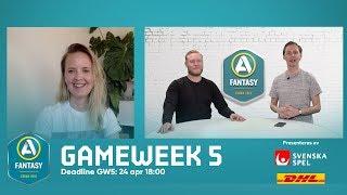 Allsvenskan Fantasy S02: Gameweek 5