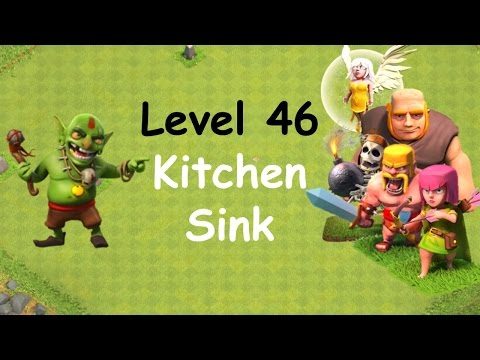 Clash of Clans - Single Player Campaign Walkthrough - Level 46 - Kitchen Sink