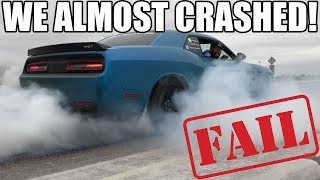 I Just Did A Burnout In My Hellcat & I Almost Crashed!! And I Got It All On Video..