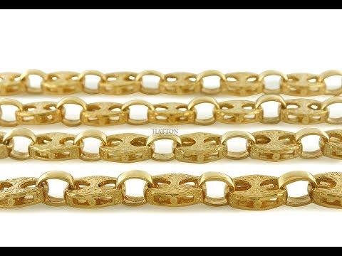 9K 14K 18K Textured Mariner Gucci Link Chain 10mm wide -30 Inch - Hatton Jewellers London