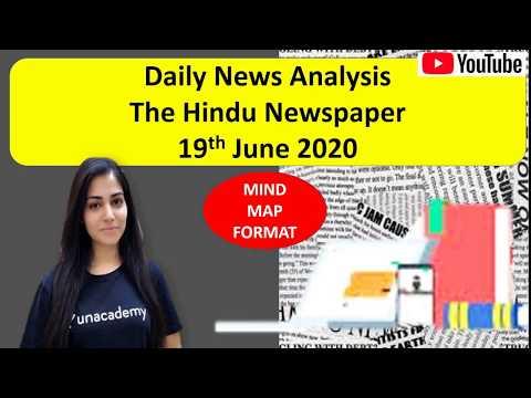 Daily News Analysis   19th June 2020   UPSC CSE   Arpita Sharma