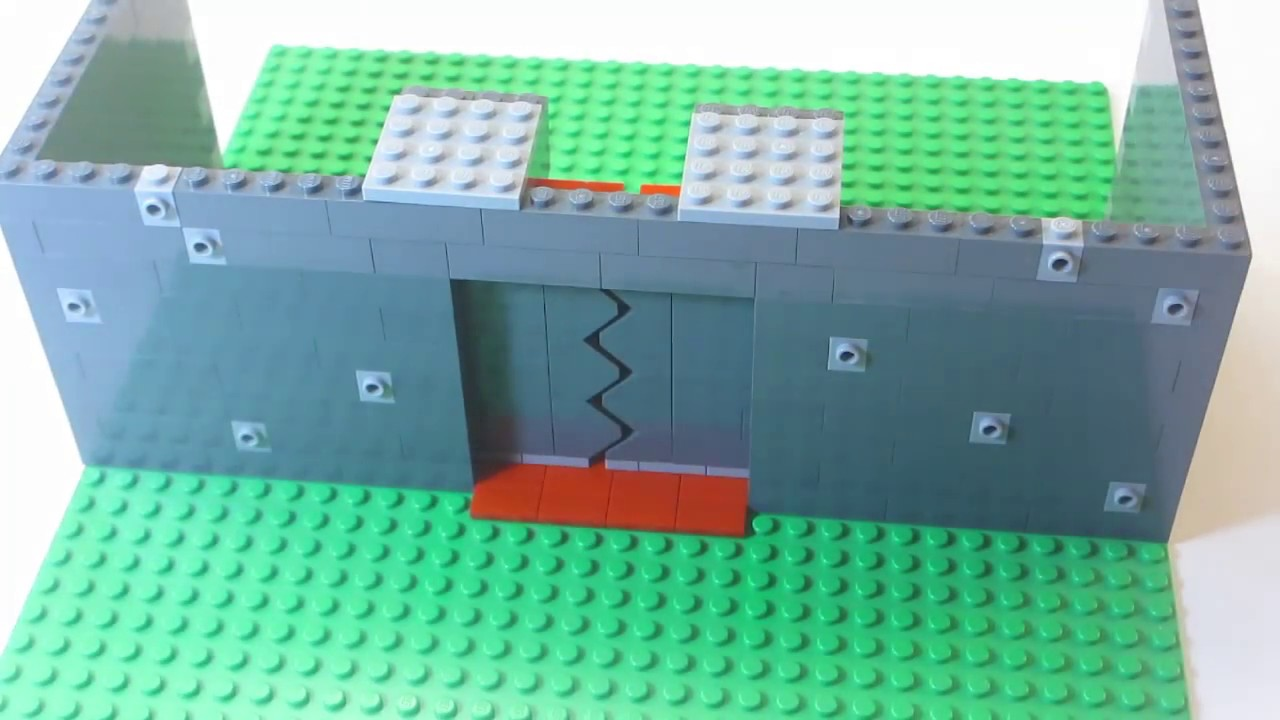 How To Build Lego Sliding Doors Youtube