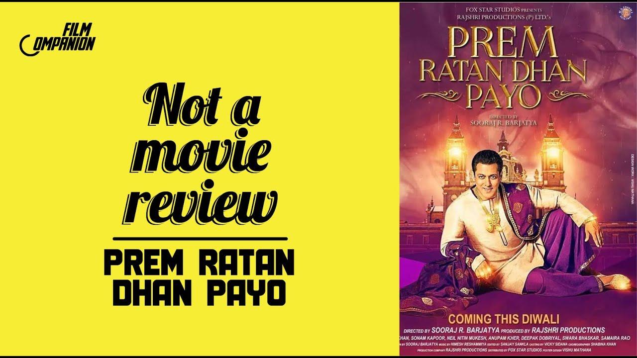 Prem Ratan Dhan Payo | Not A Movie Review | Sucharita Tyagi | Film Companion - YouTube