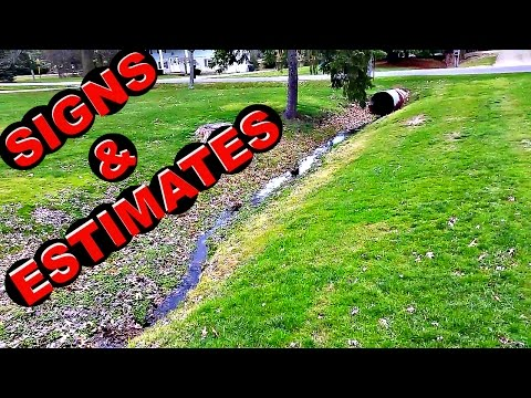 Lawn Care VLOG # 9 Signs, Estimates
