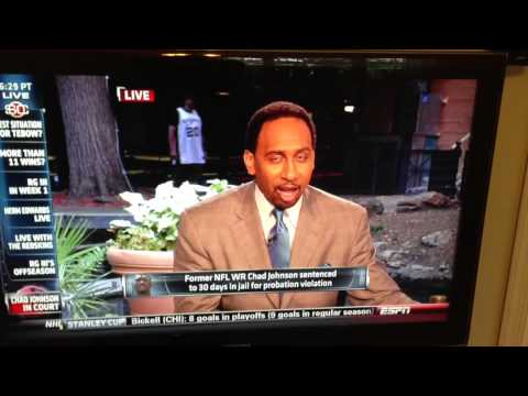 Stephen A. Smith on Chad Johnson Lawyer Butt Slap