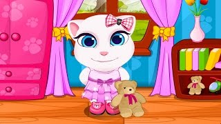 Talking Angela And Tom Cat Babies Baby Game - Angela. Уход за Анжелой.