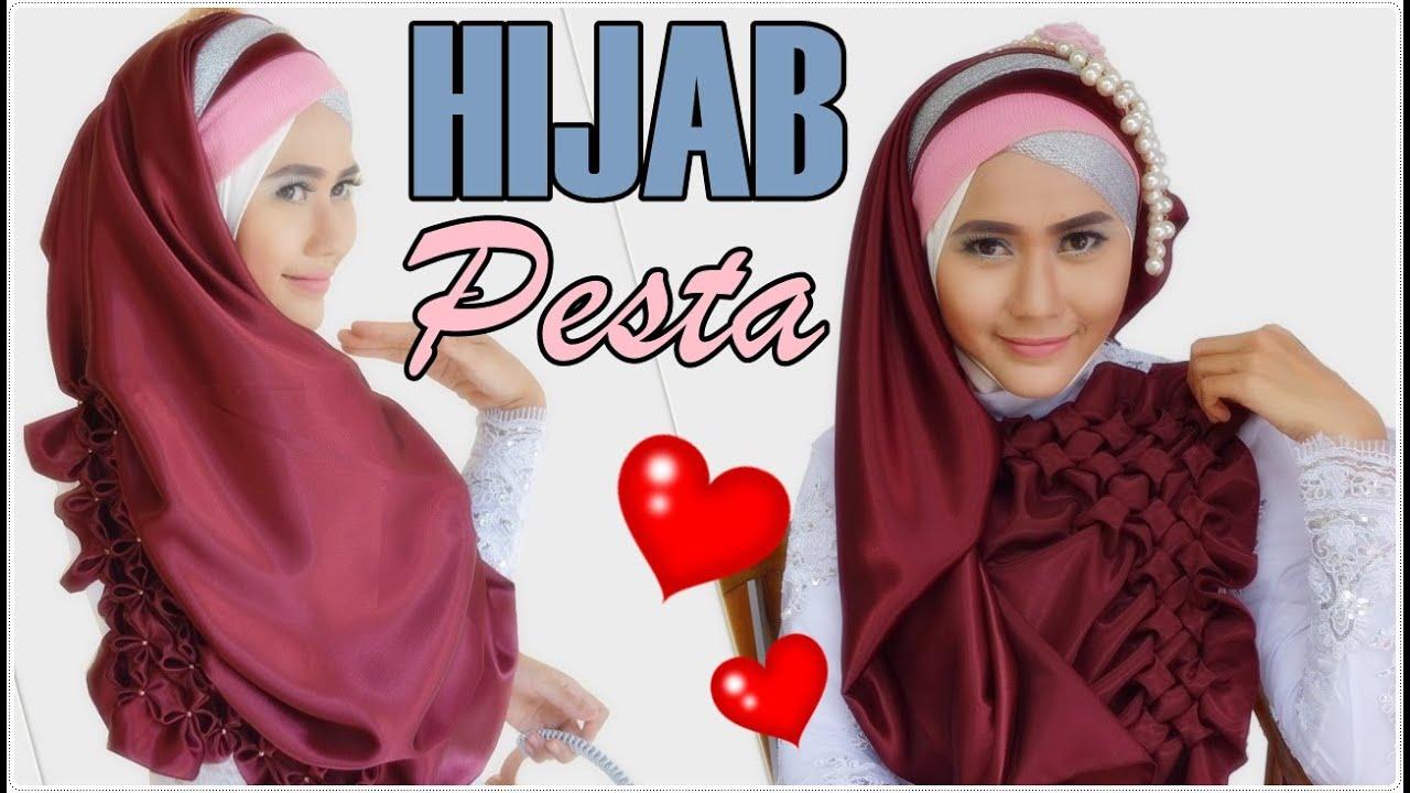 Hijab Kebaya 2 In 1 Daisy Segi Empat Hijab Pesta Menutup Dada Vs