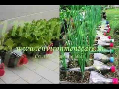 Creative gardening ideas with re use of waste material for Use of waste material