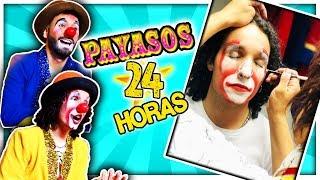24 HORAS Siendo PAYASOS en un Circo  *CASI NOS CORREN* 😥