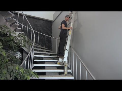 How To Use A Ladder On Stairs, Safely And Easily, With The Ladder Aide