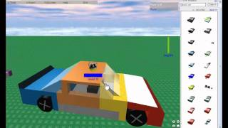 ROBLOX - How To Make A Simple Car ( ROBLOX Tutorial August 2009 )