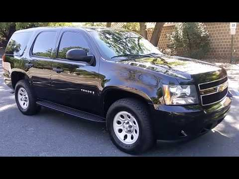 Police Tahoe 4X4 126k mi clean cloth interior tight driving North Jersey Emergency Vehicles PPV,SSV