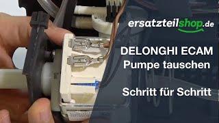 DELONGHI ECAM Pumpe tauschen - ausbauen einbauen Schritt für Schritt Reparaturanleitung