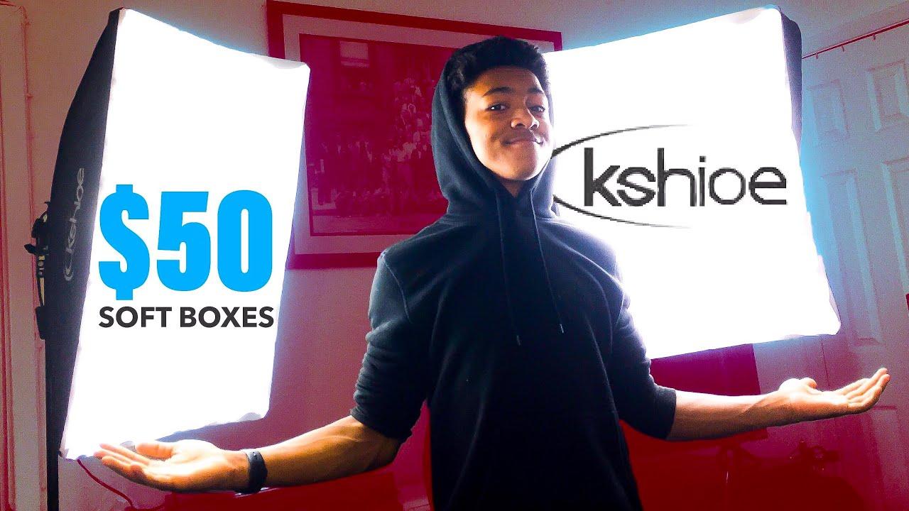 kshioe softboxes unboxing best cheap lighting