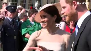 Meghan and Harry make first appearance since wedding | ITV News