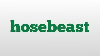 hosebeast meaning and pronunciation