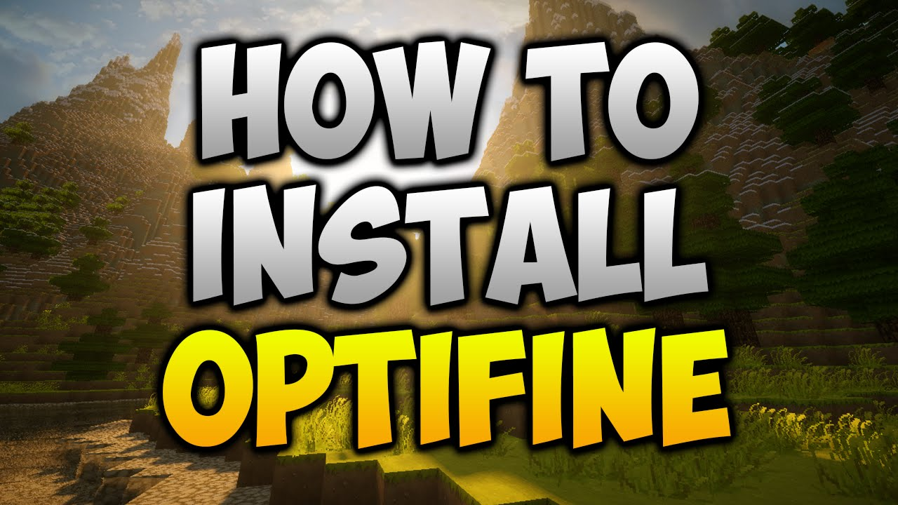 minecraft how to install optifine windows 10
