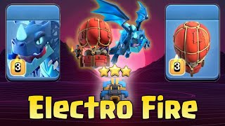 Electro Dragon With Stone Slammer TH12 Attack Strategy 2019! Best Electro Fire 3star TH12 Bases