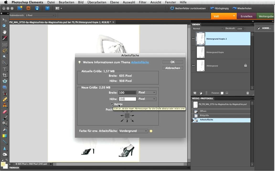 Photoshop: Einfach und schnell simple Rahmen erstellen - YouTube