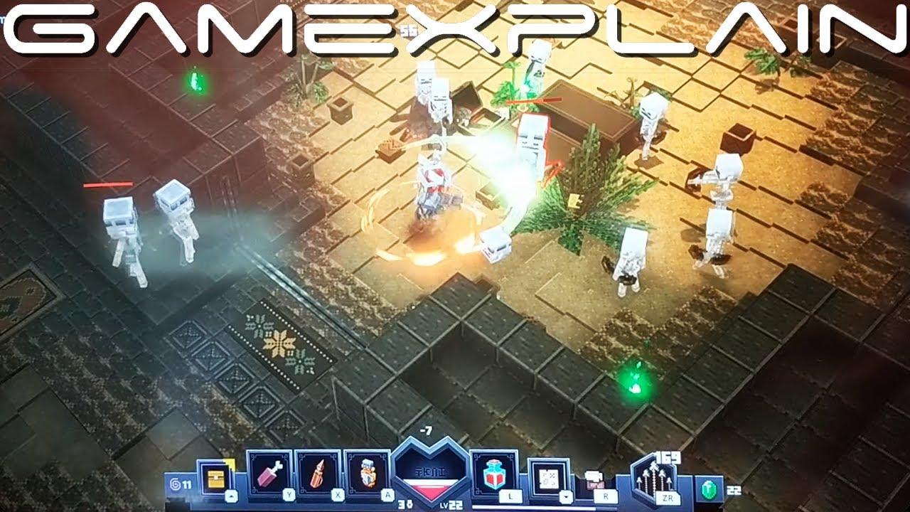 Minecraft Dungeons Gameplay Nintendo Switch Pax West