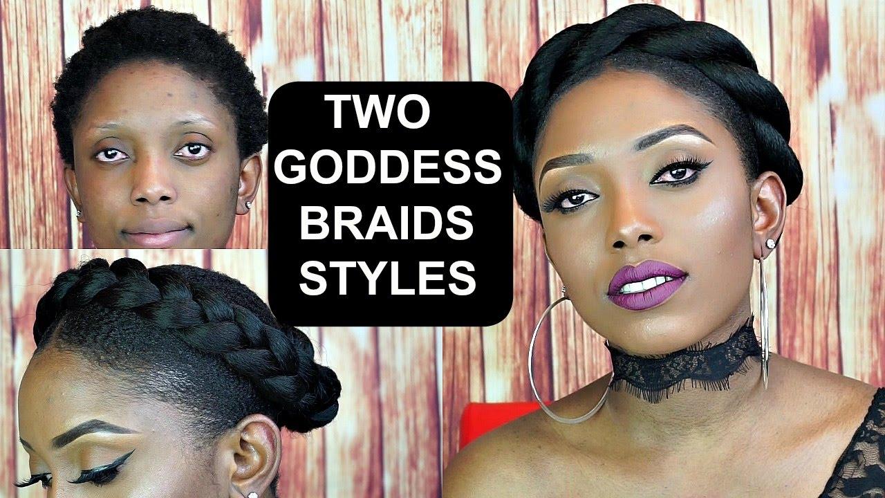 Simple Halo Goddess Braids Tutorial On Short Natural Hair