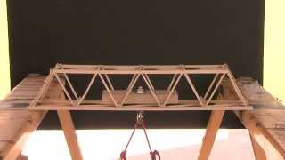 Edge On Science Bridge Building Camp Load Test Youtube Sharing
