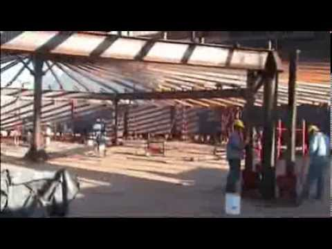 Assembly System For Storage Metal Tanks Api 650 Youtube