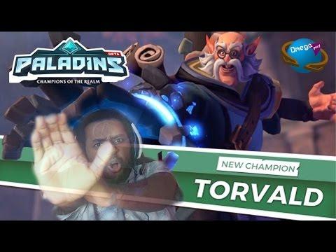 "Empurrando Geral ""Torvald"" Gameplay [Paladins] Omega Play"