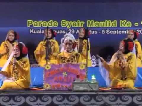 Busrolana & Al-Madad - Zahratunnisa, Anjir Serapat Timur Km. 14. Parade Syair Maulid Ke-11 Kapuas