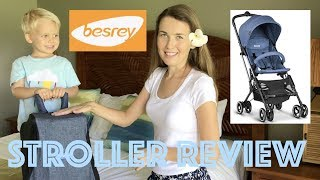 The Perfect Travel Stroller! New, Ultracompact Baby Stroller by Besrey! Review & Details!