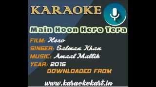 Main hoon hero tera karaoke | free hindi karaoke | karaokekart