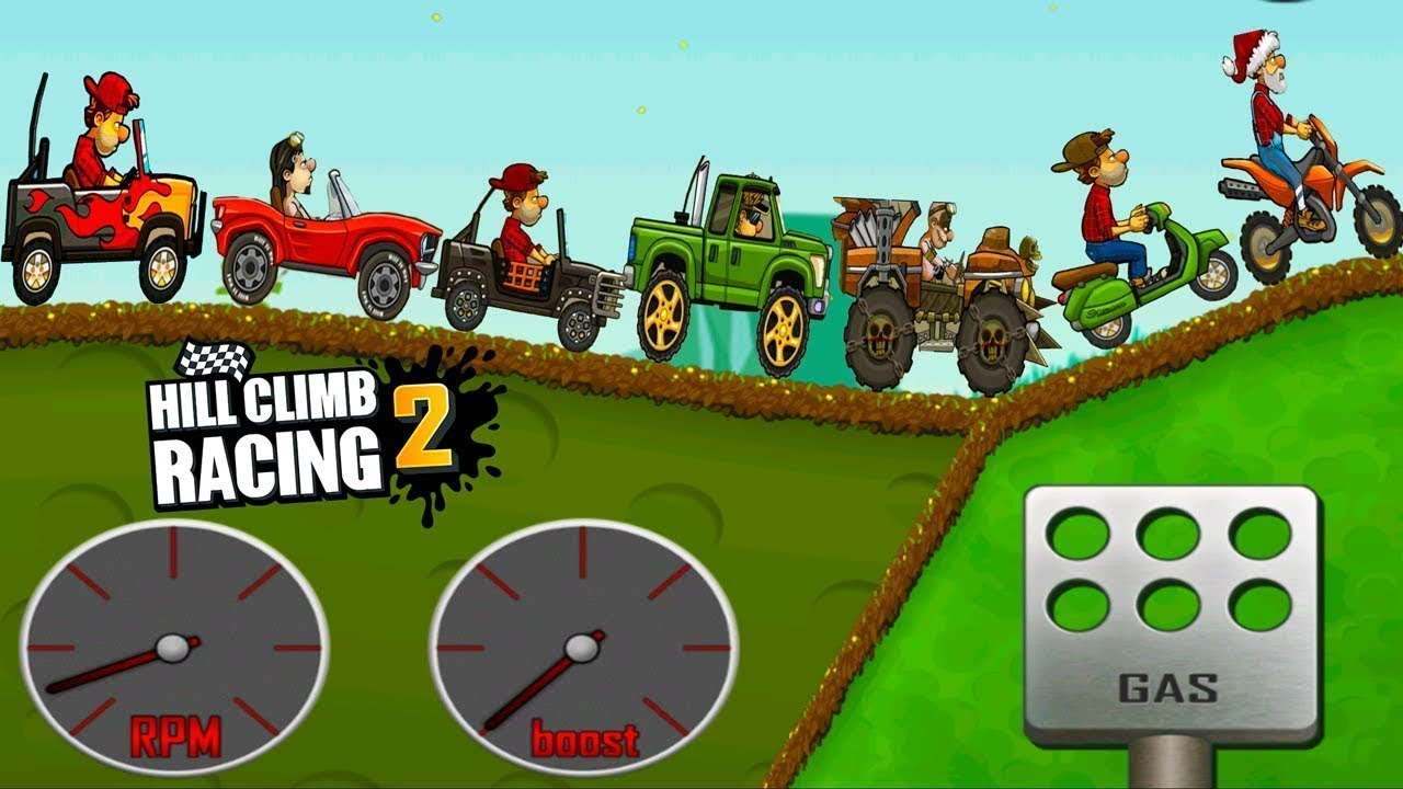 Hill Climb Racing 2 : All Vehicles Unlocked (Bus, Formula, Super Diesel , Cooper) - Android GamePlay