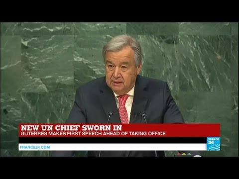 REPLAY - Watch the new UN secretary-general Guterres speech ahead of taking office