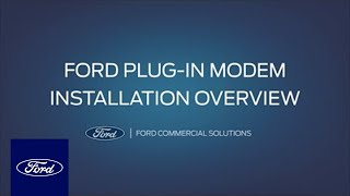homepage tile video photo for Ford Plug-In Modem: Installation Overview | Ford Commercial Solutions | Ford