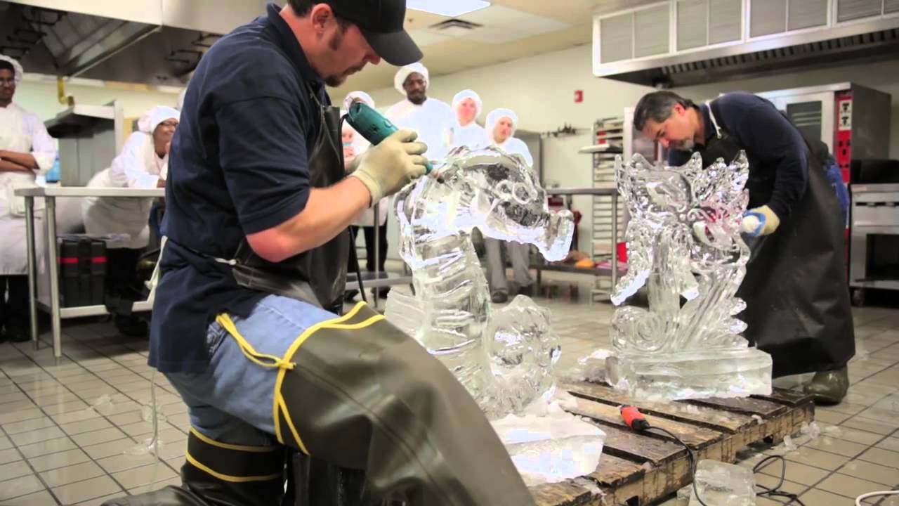 Ice Carving Demonstration at TCC Culinary Arts