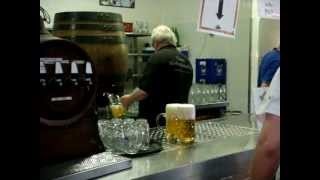 German Beergarden At The Hofbraukeller, Munich, Germany Mov06533