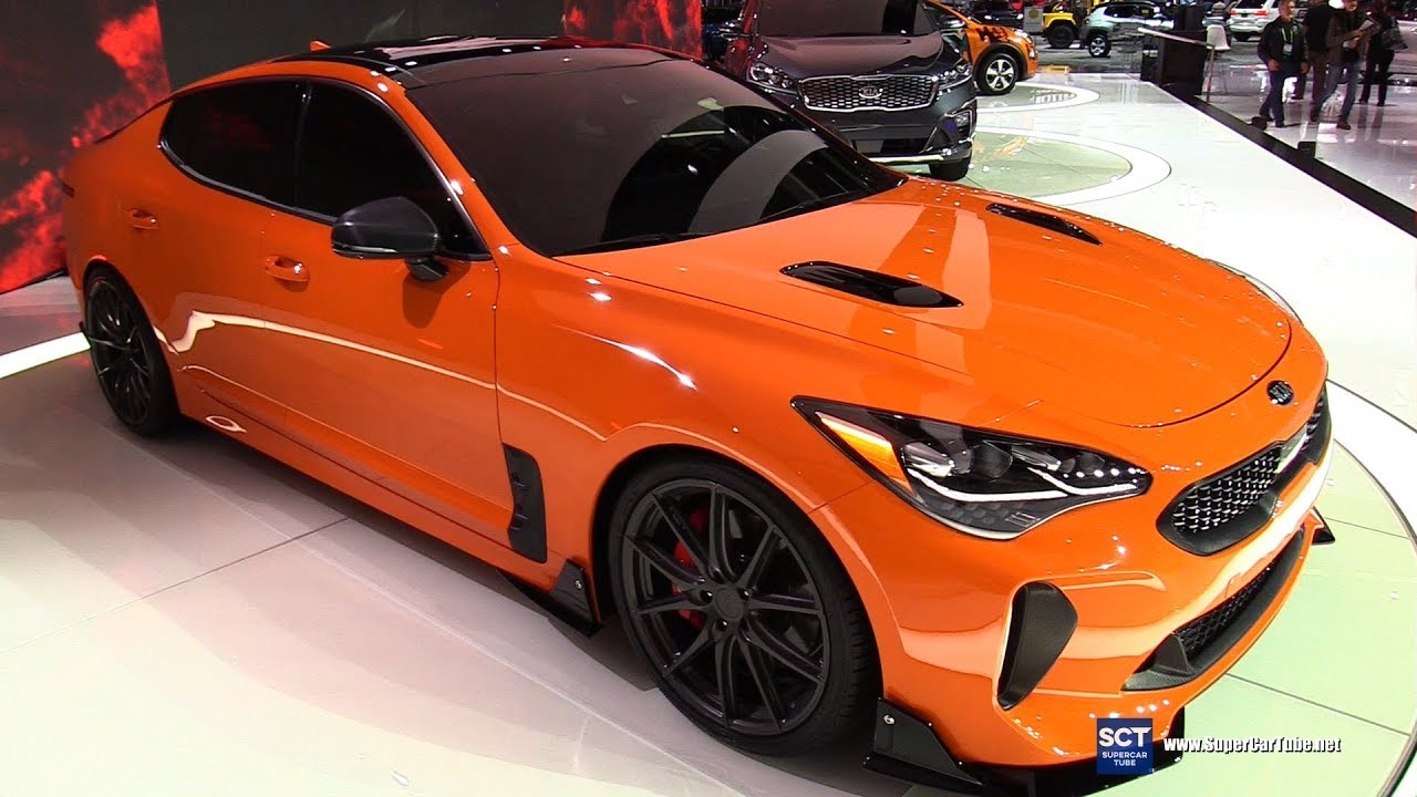 2018 kia stinger gt twin turbo v6 exterior walkaround 2017 la auto show youtube. Black Bedroom Furniture Sets. Home Design Ideas